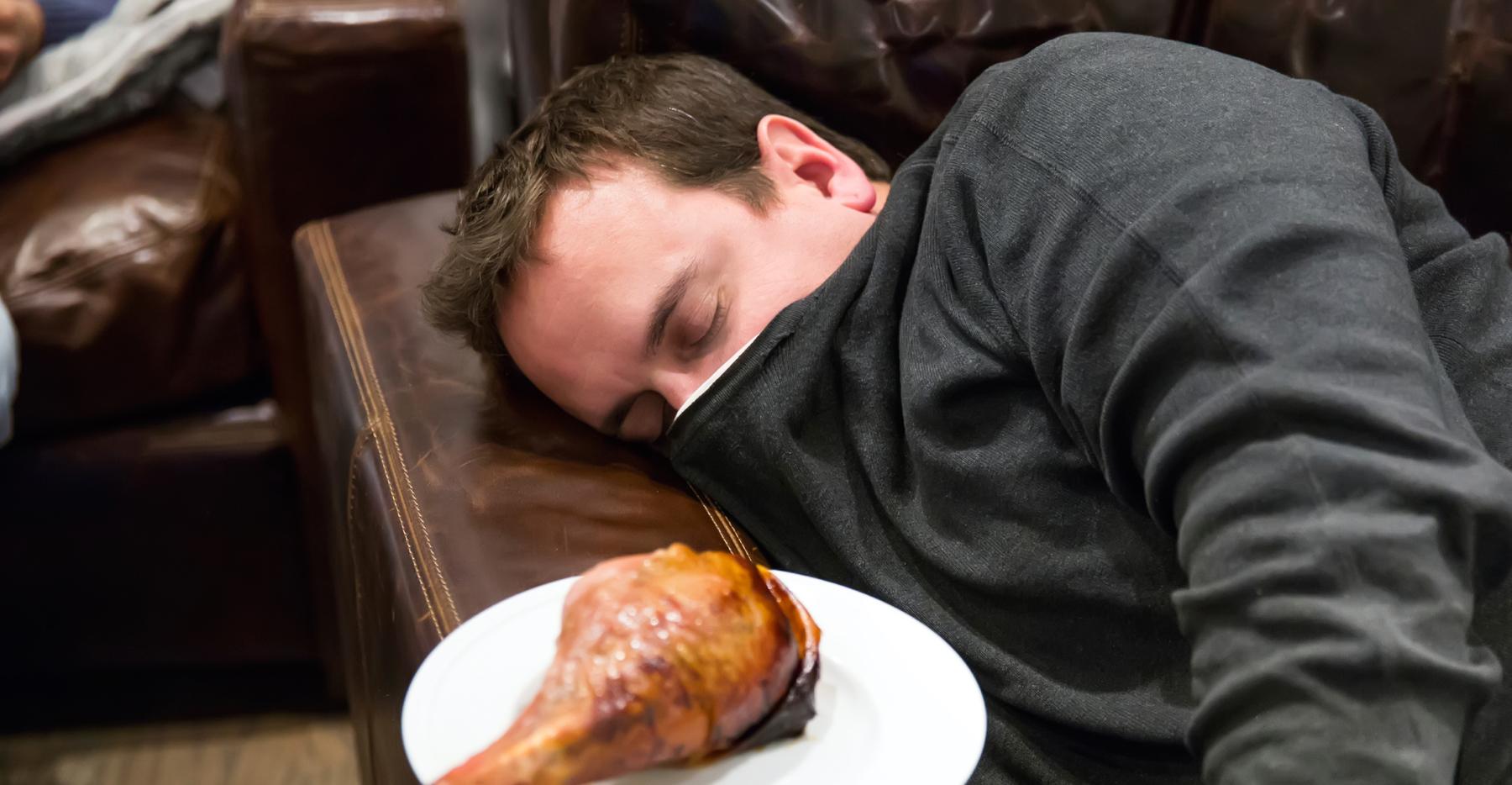 قيلولة بعد الأكل