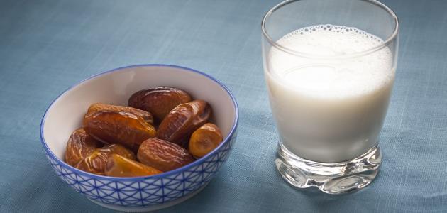 التمر والحليب