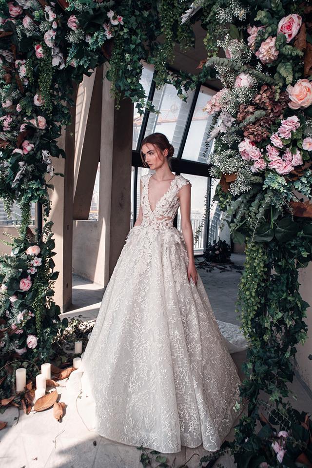 عروس عيون مصر-فساتين زفاف لبنانية