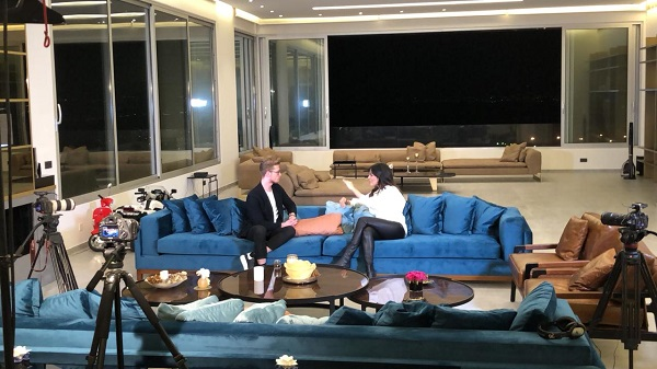 منزل نادين نسيب نجيم الجديد في الاشرفية بيروت