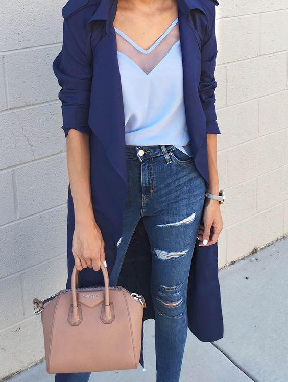 موديلات ملابس باللون الأزرق وطرق تنسيقها في العيد مجلة الجميلة