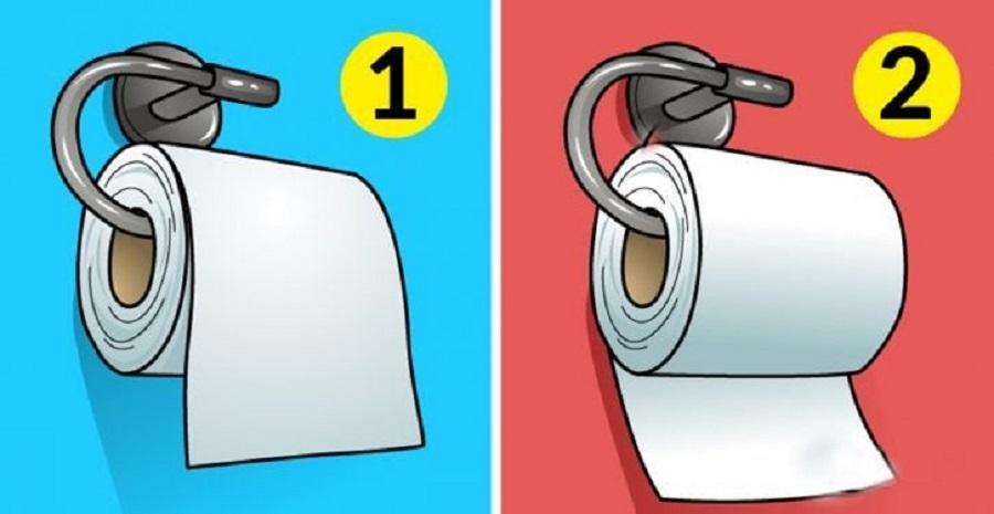 اختبار شخصية غريب من خلال طريقة لف اوراق المرحاض