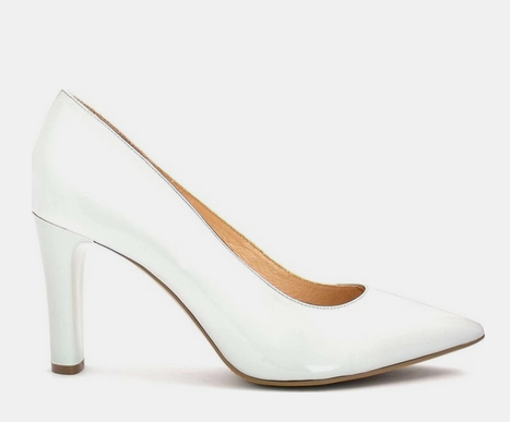 f3a501d94 أحذية كعب عالي باللَون الأبيض الأنيق والجذاب | مجلة الجميلة