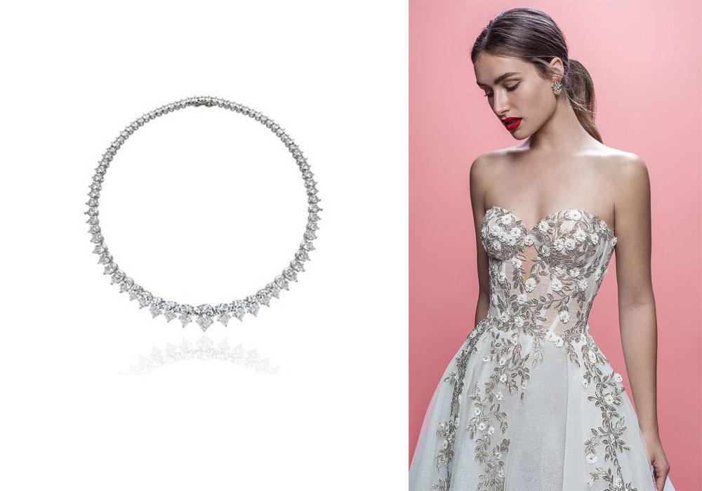 1c14b34fd القلادة الأنسب لكل تصميم فستان زفاف | مجلة الجميلة