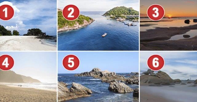 تحليل الشخصية بالصور من خلال اختيار افضل شاطئ لتمضية الاجازة