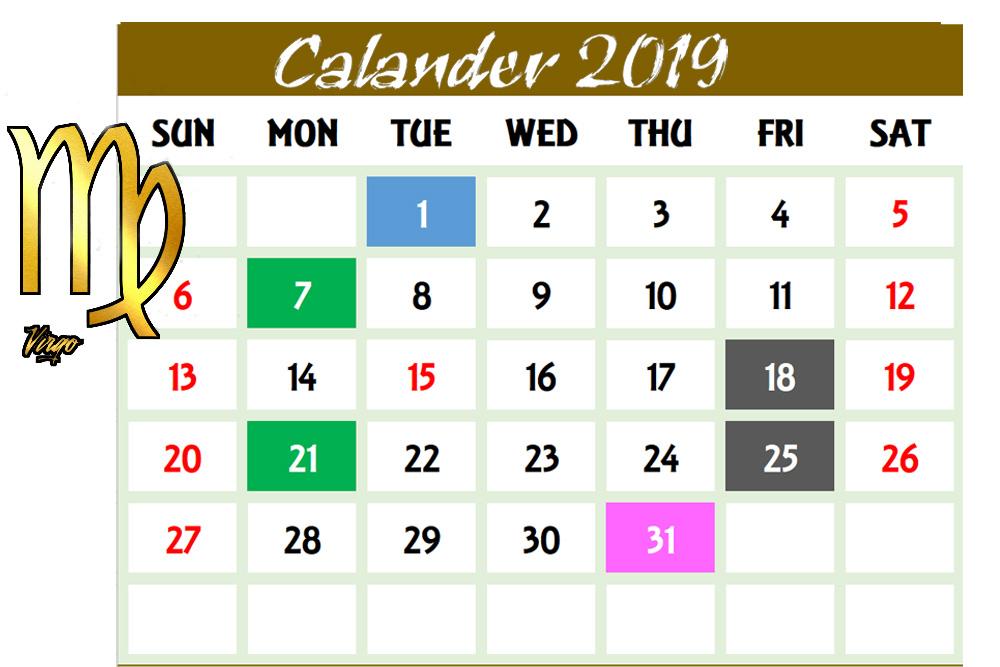 برج العذراء واهم التواريخ للعام 2019