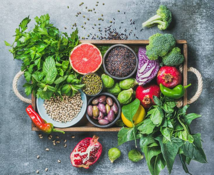 تناول الخضروات لنحت الجسم