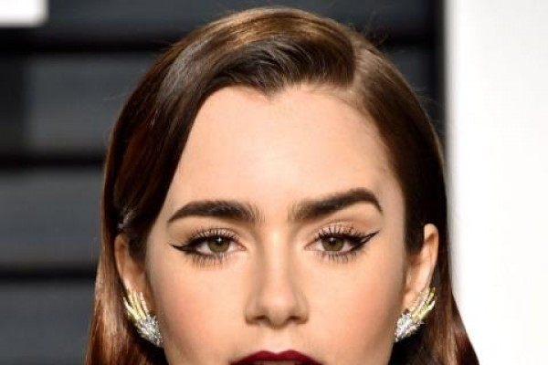 lily collins wingged lines