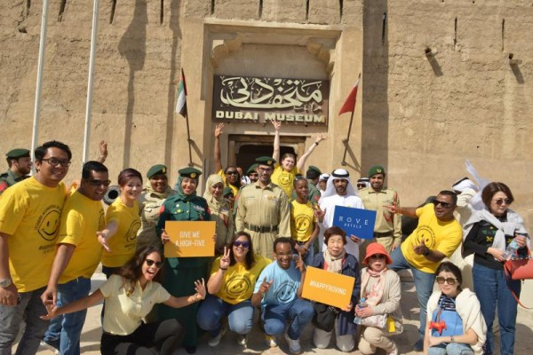 Rove Hotels celebrate International Day of Happiness in partnership with Dubai  police