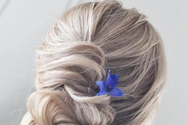 Messy Bun with Embellishment